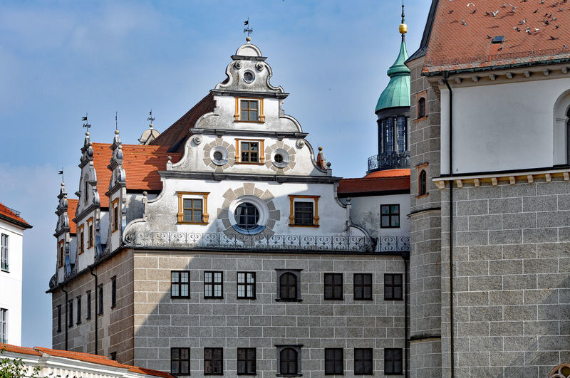 Low angle view of historic buildings at neuburg an der donau