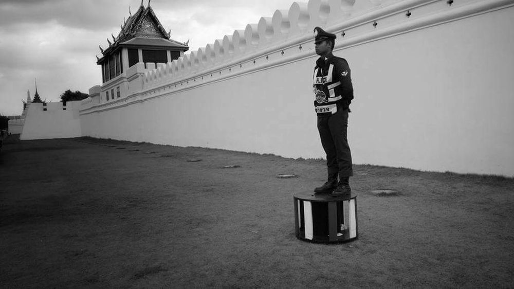 Emotional image after King Bhumibol of Thailand passed away. Dead King BKK Travel Destinations Blackandwhite Bhumibol Wat Pra Kaew Bangkok Thailand Outdoors Travel City