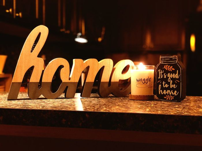 Home Text Communication Western Script No People Illuminated Close-up Capital Letter Fire