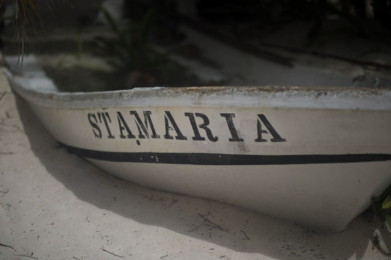 St amaria. Her fishing days were over. Riviera Maya Riviera Maya, Mexico Survival Canon Canonphotography Outdoors Canon5dmarkiv Water Green Boats And Moorings Boat Life Beached Name Saintly Xpu-ha No People Day Mexico Travel Destinations