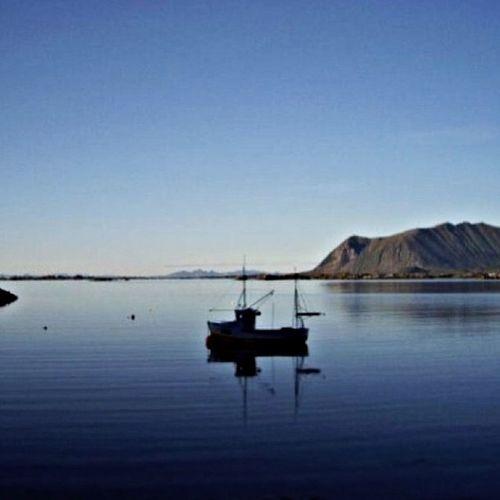 Tramonto polare Lofoten Norway Midnight Landscape Artic