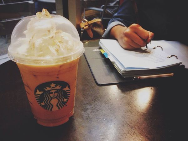 Hocus Focus [Iced Pumpkin Spiced Latte + Plans] Drinking Coffee Working Studying