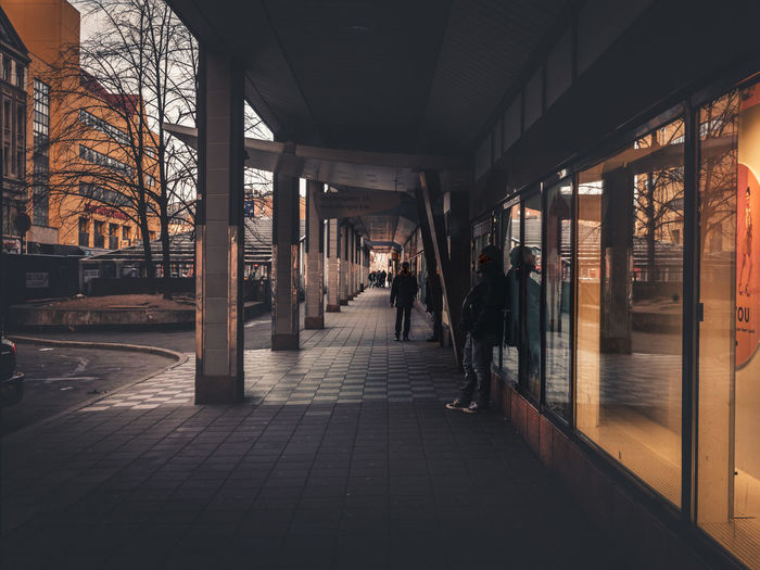 Reflection Architecture Built Structure City Day Indoors  Lifestyles Men Men¨ People Real People Reflections Sunset The Way Forward Thoughtful Women