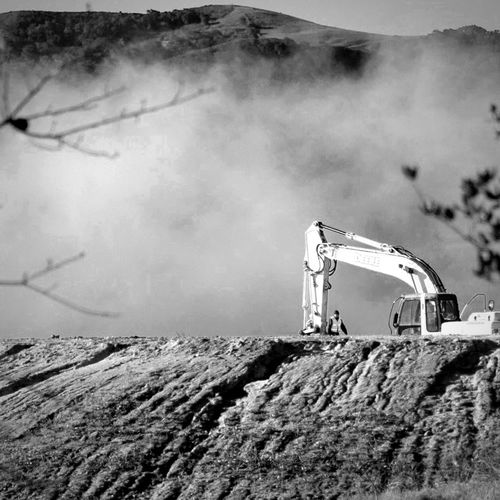 Constuction is never ending in my home town. Not Exactly Hugging Trees Blackandwhite Landscape Suburban Landscape Suburbex