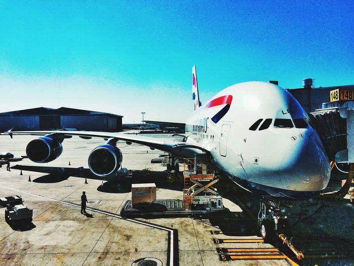 Airbus A380 Transportation Aeroplane LAX British Airways A380 A380 British Airways Transatlantic Airport Airport Waiting Boarding Pass Los Angeles International Airport Aviation Airbus Airbus A380