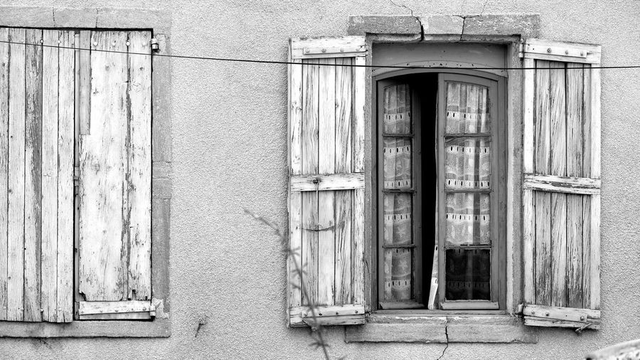 windows Exterior Window Windows_aroundtheworld Architectural Feature Archtecture Still Life EyeEm Best Shots EyeEm Selects Blackandwhite Black And White monochrome photography Monochrome Atmospheric Mood French Style Historical Building Window Shutter Shutter Beauty Silence Wall - Building Feature Old Buildings Closed Architecture Building Exterior Built Structure Wall Wooden Locked