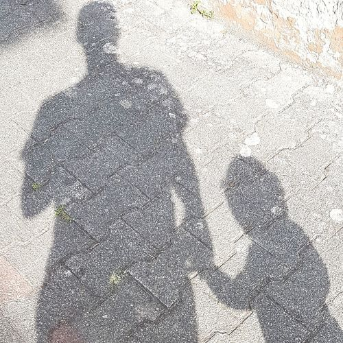 Father and son Father & Son Blackandwhite Shadow Shadow Men Close-up