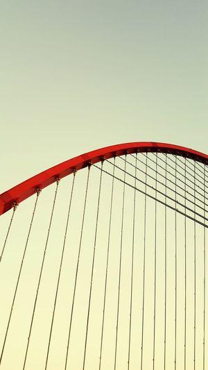 City Clear Sky Golf Club Bridge - Man Made Structure Red Industry Metal Construction Site Sky Chain Bridge Bascule Bridge Cable-stayed Bridge Steel Cable Construction Frame Bridge Engineering