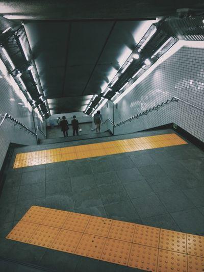 Subway Station Subway People People Stairs in Tokyo , Japan