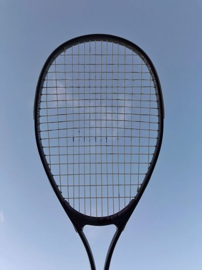Eye4photography  EyeEm Gallery EyeEm Best Shots Clouds Squash Racket Squash Sport Sky No People Racket Low Angle View Sports Equipment Clear Sky Nature Outdoors Net - Sports Equipment Blue Shape Geometric Shape Day Close-up Circle Single Object Leisure Activity Fun Nature Clear Sky