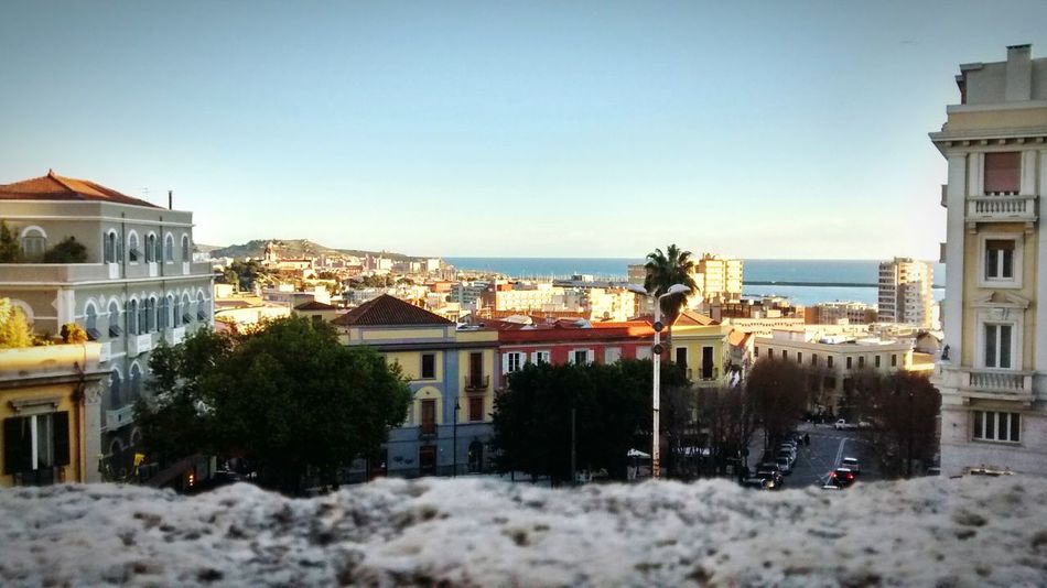 Cagliari Italy Sardegna Sardinia Panorama Panoramic Town Bastionesaintremy Bastione View From Above