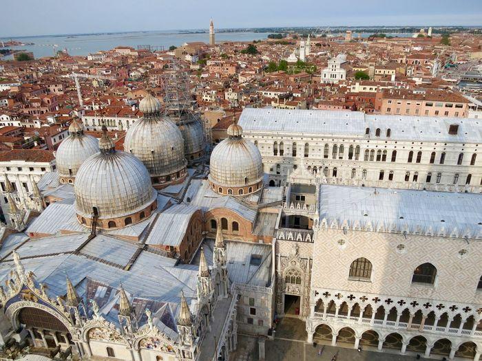High angle view of saint mark basilica