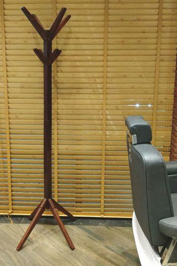 Deck chair against built structure