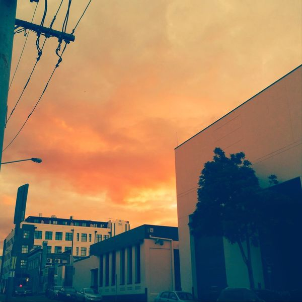 Orange sky in the afternoon.