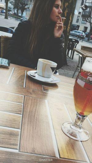 Cafe Terrace Cousine  Longhair That's Me Blonde Girl Jott Smoke . 😁💋.