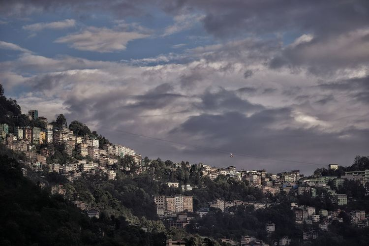 our concrete mess Sikkim Gangtok Ropeway Himalayas Landscape City Cityscape Tree Mountain Urban Skyline Community Town House Sunset Residential Building
