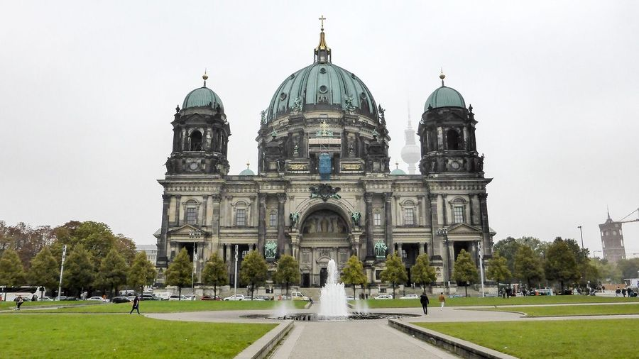 Berliner Dom - Berlin Cathedral Architecture Built Structure Dome Religion Place Of Worship Travel Destinations Berlin Church Monument Medieval Fountain Tower Tv Tower Berlin TV Tower