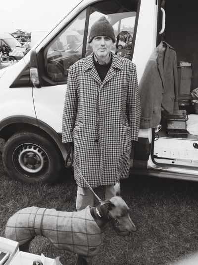 Tweed Car Boot Punter Car Boot Sale Views Of Britain Black And White Portrait
