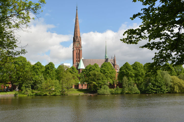 St. Gertrud church in Hamburg Church Gothic Gothic Architecture Hamburg St. Gertrud Architecture Building Exterior Day History Nature No People Outdoors Religion Spirituality Tree Water