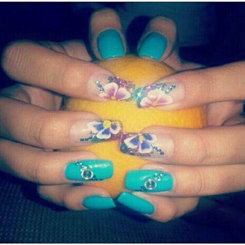 My Nails  , Nail Art ,Nail Polish :) Flowers