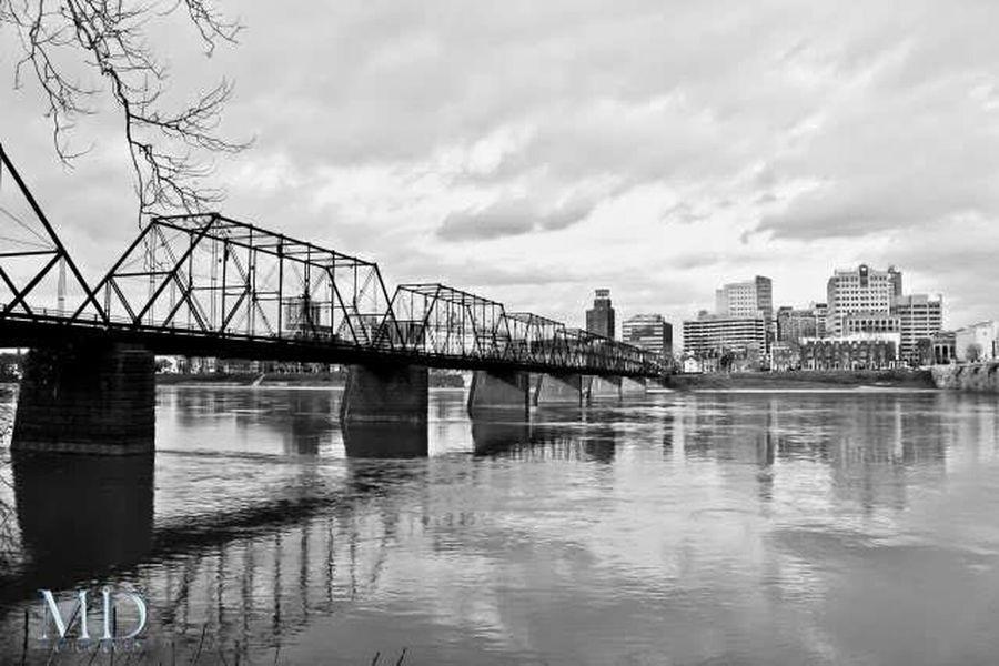 One of the bridges in Harrisburg PA Landscape Landscapes Pennsylvania Bridges Bridge Bridgeporn Bridgesaroundtheworld Blackandwhite Photography