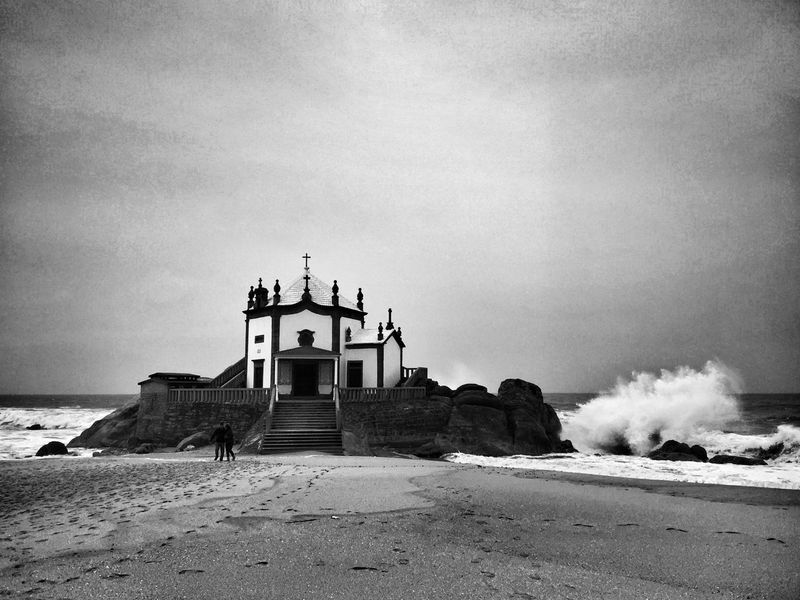 Beach Sea Monuments Black And White JohnnyGarcía Blackandwhite Photography Fotografia Portugal Portugal_em_fotos