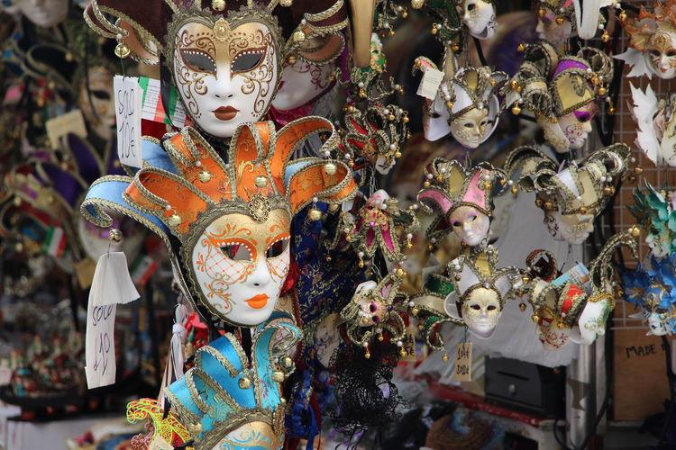 Multi colored masks for sale in market