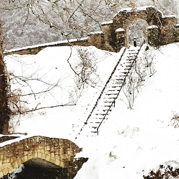Huntingtonwv Ritter Park Snow ❄ Westvirginia At The Park Stairway To Heaven Winter Huntington, WV