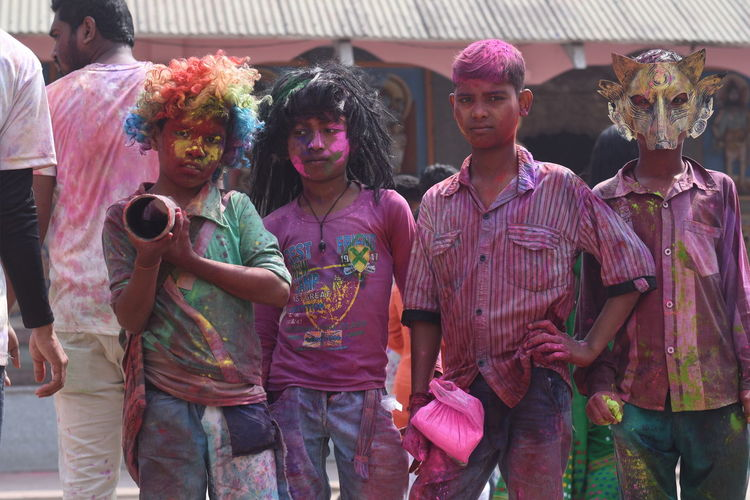 Childhood. Holi Powder Paint Young Women Party - Social Event Celebration City Togetherness Tradition Group Of People Cultures Sari Traditional Dancing Festival Indian Culture  Traditional Clothing Groom Music Concert Chinese Dragon Holy Week Carnival Reunion - Social Gathering Jack O Lantern Dancer Balinese Culture Hijab Traditional Culture Period Costume Entertainment Concert Henna Tattoo