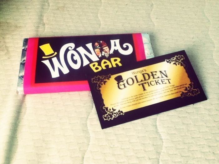 wonka bar! mmmm thanks baby :* Chocolate Wonkabar TheGoldenTicket Boyfriend