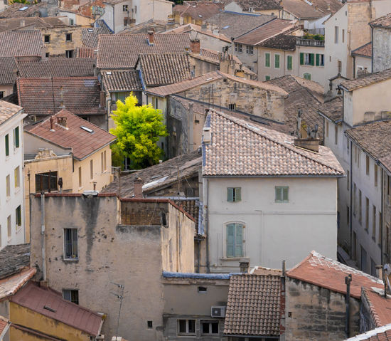 Alone Alone In The City  Beige City France Green Color Isolated Roof Architecture Building Exterior Built Structure City Contrast Day Green Trees House No People Old City Outdoors Residential Building Roof Roofs Survival Survivor Tiled Roof