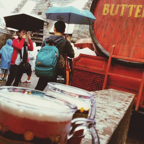 Japan's Harrypotter Butterbeer USJ At first, the protagonist is butterbeer....;)
