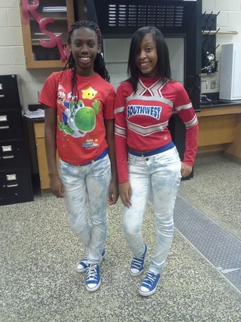 me & my sister tyty , in 4th block today <3 ...