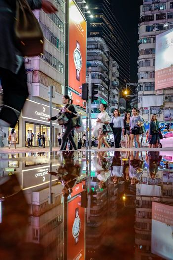 cityscapes Nightshooters Discoverhongkong Nightphotography Reframinghk Street Photography Reflection Puddle Street Photography