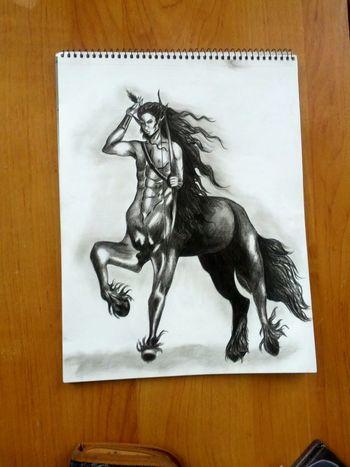 Нарисовал кентавра, назвал его Лошадью :D My Art Fantasy Centaur срисовка
