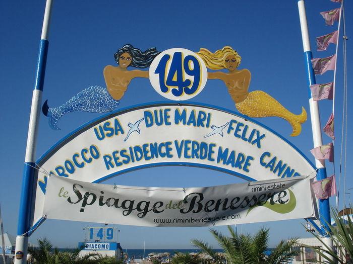 149 Beach Beach Photography Italy On The Beach Rimini Riminibeach Sign Symbol