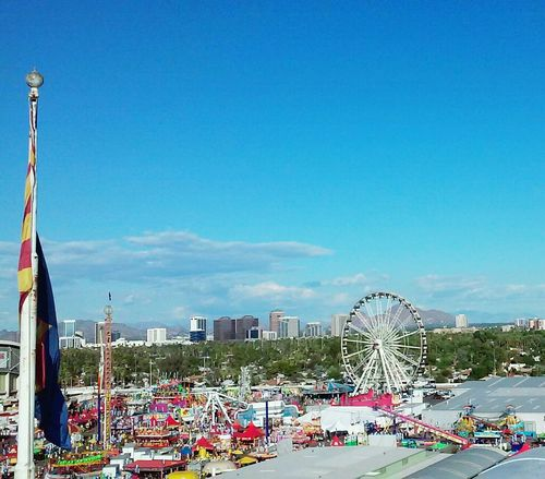 Ferris Wheel Arizonalovers AriZona♡ Phoenix Skyline View From The Top My Beautiful City I Love This City! Going On Rides Cotton Candy