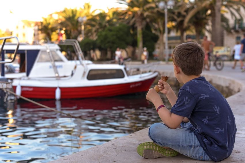 Croacia Nautical Vessel Mode Of Transportation Transportation Sitting Adult Men Side View One Person Outdoors