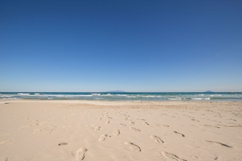 To the sea Photography Canon Seascape Landscape Quiet Moments Sea Beach Water Land Sky Sand Beauty In Nature Clear Sky Blue Horizon Over Water Horizon Nature Outdoors Day No People Scenics - Nature