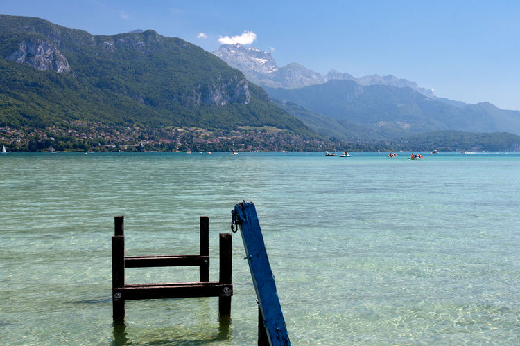 Mountain Water Scenics Beach Outdoors Vacations Nature Beauty In Nature Blue Landscape Day Sky No People EyeEm Nature Lover Annecy France Travel Tourism Tranquility Lake Lake View Annecy Lake
