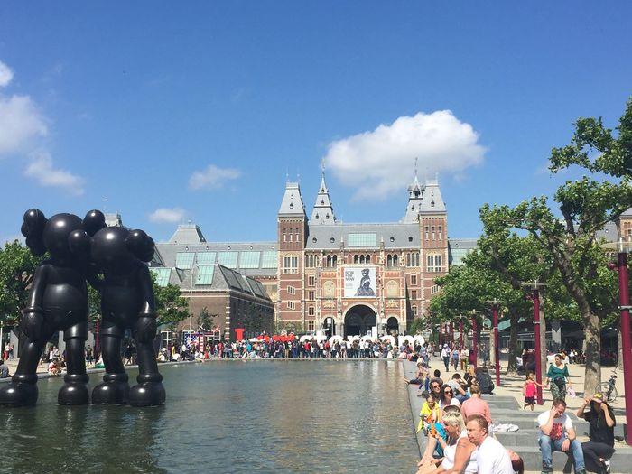 Outdoor Sculpture Amsterdam Rijksmuseum
