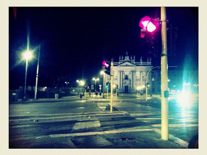 Taking Photos Driving Waiting At The Traffic Light Night Lights