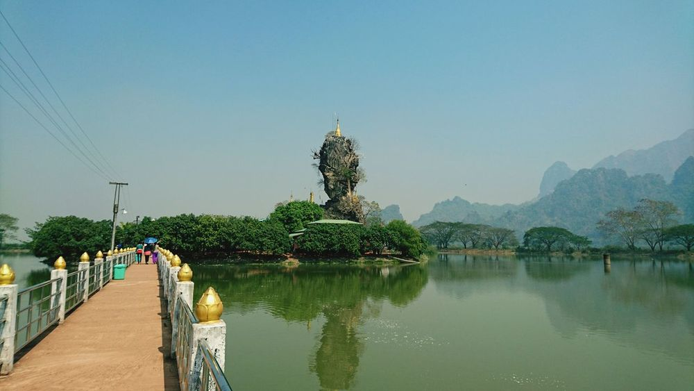 Pagoda in Interesting Places, on top of rocks. Silvia In Myanmar Myanmar Burma Rocks And Water Rocks Hpa An