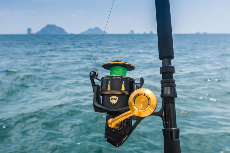 Water Sea Nature Yellow Day Focus On Foreground No People Outdoors Sky Close-up Security Technology Safety Scenics - Nature Metal Beauty In Nature Transportation Lighting Equipment Pole