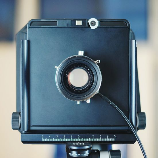 Close-up of old-fashioned camera