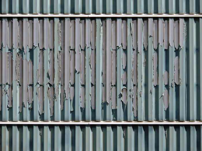 Detail Shot Of Metallic Wall