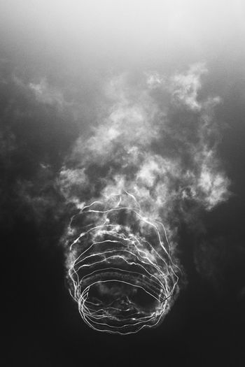 """Spiral"" X100S • 23mm•ƒ/5.6 • 1/1000s • ISO 320 Airshow BIAS2016 Black&white Clouds Glider Moments Monochrome Plane Plano Sky Smoke TCPM FUJIFILM X100S X100S B&w Mono Close-up"