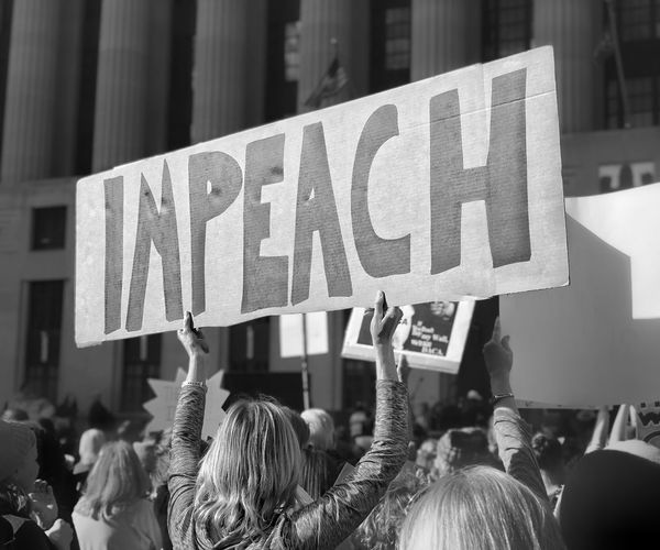 Women's March 2018. The Future Is Female Impeach Text Protestor Protest Real People Women The Resistance Metoo Protest Signs Protest Womens March Signs Women's March The Photojournalist - 2018 EyeEm Awards