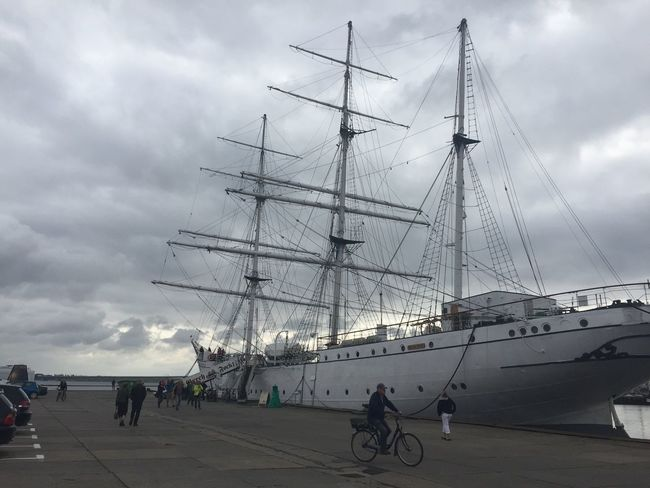 Gorch Fock Stralsund  Holiday Clouds And Sky