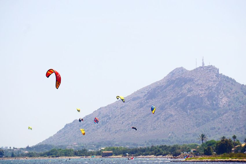 Kitesurfing Kitesurf Summer Watersports Seasport Sea Mediterranean  Pollença Mix Yourself A Good Time